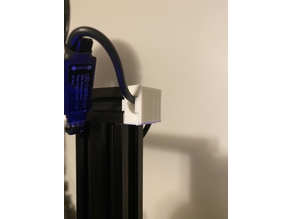 Ender 3 end cap and cover for lighting wires