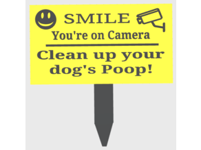 Pick up Dog's Poop Sign