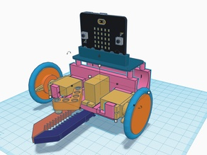 robot car with clamp