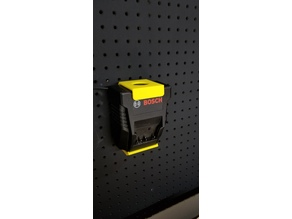 Bosch BC660 battery charger pegboard mount
