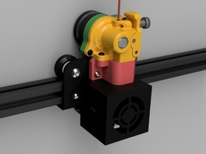 """The Orbiter CR"" 140g direct dual drive Extruder for Creality CR 10 printer types"