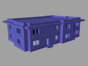 House #2 Flat Roof 28mm scale