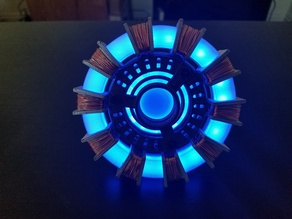 Iron Man Arc Reactor with Gemma MO and LED Rings
