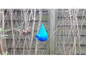 Rain Drop Bird House with Rain Shield
