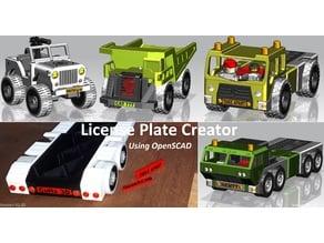License plate creator