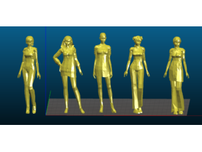 Low Poly Female Characters - Export from CGTRADER