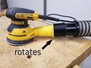 "2.5"" swiveling dust hose adapter for DWE6423 DeWalt random orbital sander"