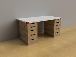 IKEA ALEX table top mount (LINNMON)