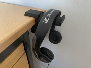 Headphone Holder - table mount - strong and easy to print