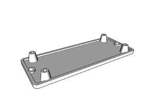Mount for Arcade USB Encoder (hole distance 30 mm x 80 mm)