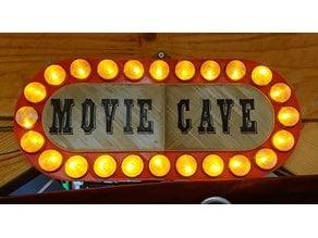 Home cinema sign