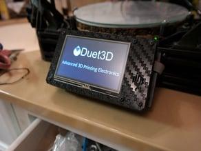 """PanelDue 4.3"""" Touchscreen Faux Carbon Fiber Case"""