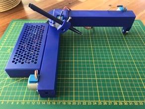 Foldable all-printed Penplotter/drawbot