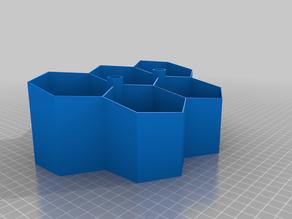 Hexagon pot for basil