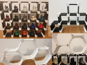 Customizable Modular Square / Hex Shelf (incl. Benchy Shelf)