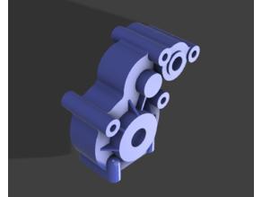Axial 3 gear transmission to modify