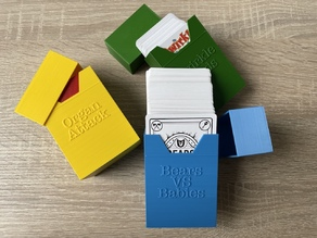 Card box for card games (customisable)