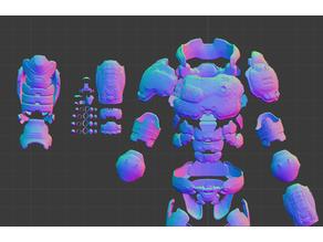 Doom Guy Praetor Suit Cosplay