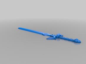 Zelda Master Sword (Cut in half)