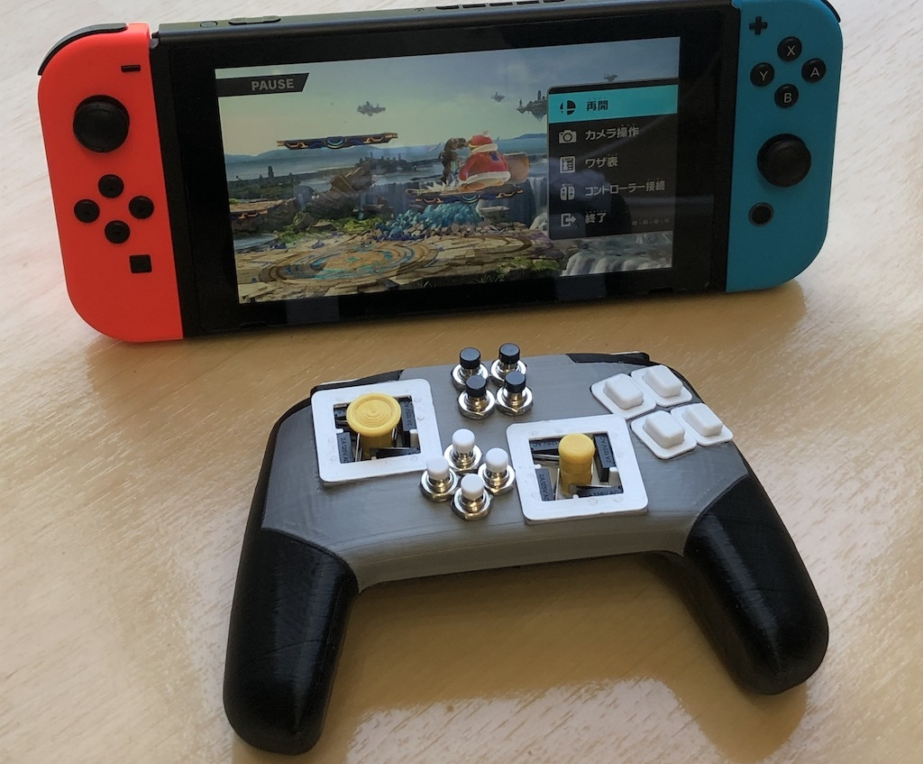 Gamepad with arcade-style fight sticks