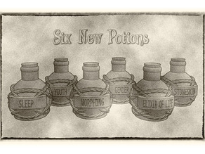 Potion Flasks and Bottles (Pack 3) For Dungeons & Dragons, Pathfinder and Other Fantasy Tabletop Games