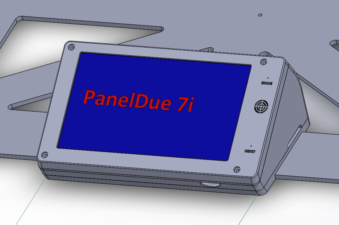 PanelDue 7i case for E3D ToolChanger