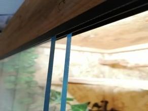 rail vitre/plexi