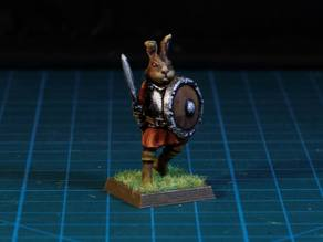 Easter Bunny Warrior  28mm (FDM, No supports needed)