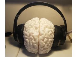 Human Brain Headphones Stand
