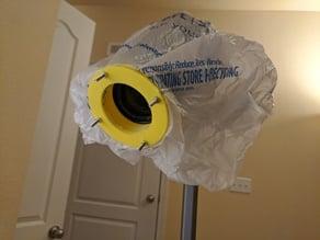 Clamp for Nikon kit lens for tarp/bag for outdoors shooting rain protection