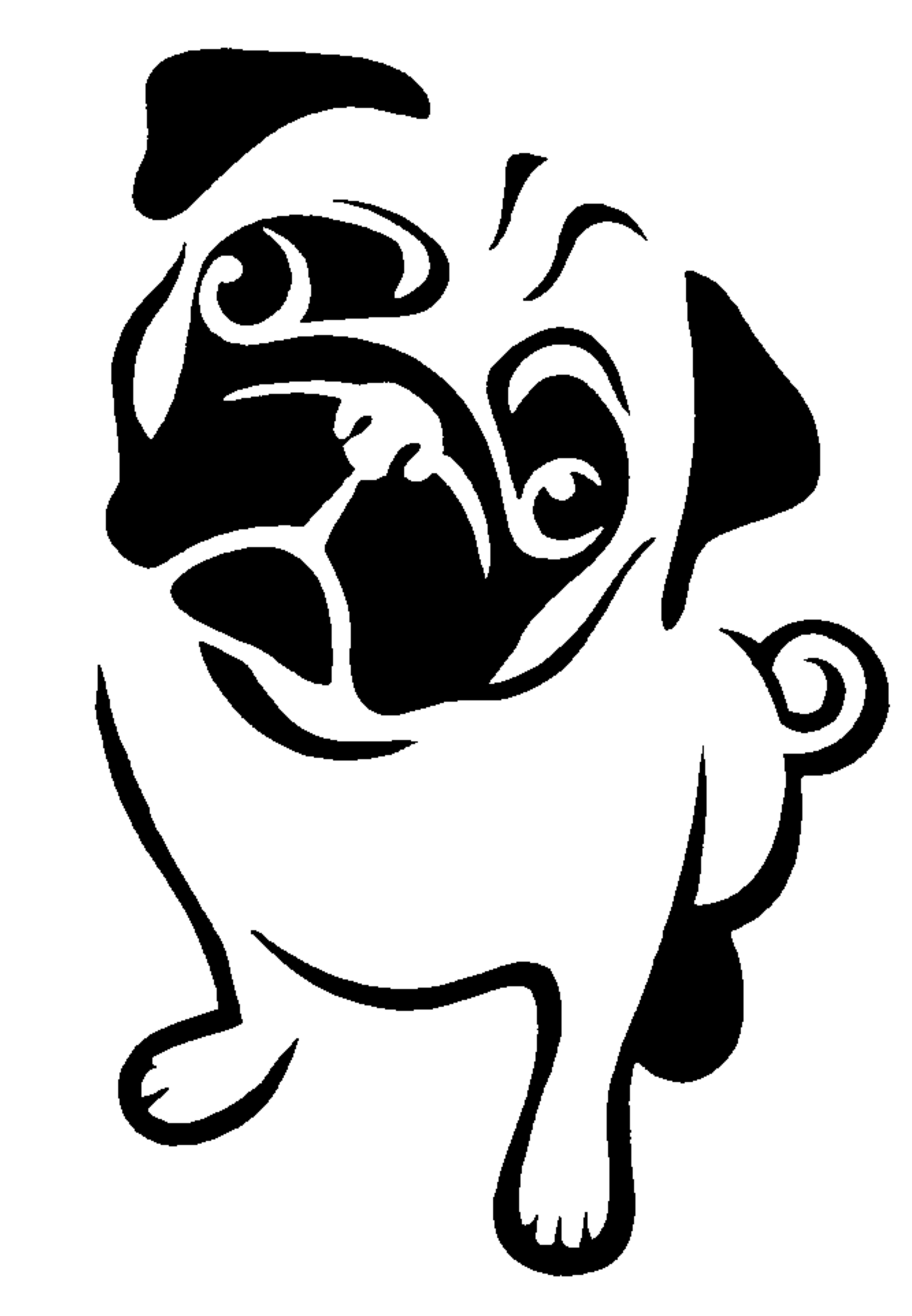 Pug stencil