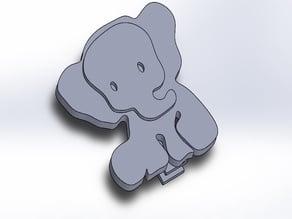 Pacifier clip Elephant