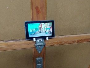 Tablet Holder for Garage Door