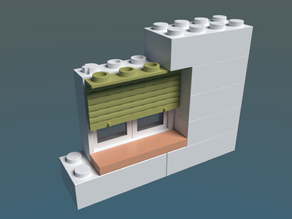 Lego compatible window blinds