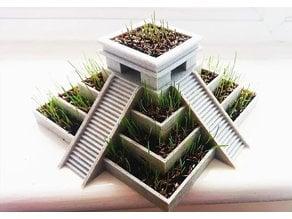 Aztec Temple Plant Pot