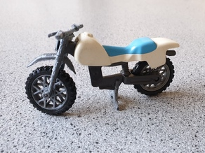 Playmobil motor bike fork and wheel