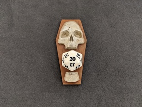 D20 Skull Coffin Life Point Counter