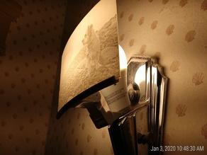 Wall Sconce for Lithiphane with Adjustable Bracket