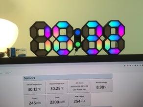 7 Segment WiFi Clock