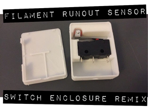 End of Filament Sensor (Switch) REMIX (with Mounting Options)