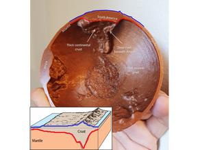 Crustal thickness globe (updated)
