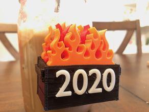 2020 Christmas Ornament Dumpster Fire