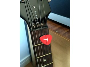 Guitar pick with your letter