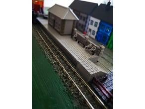 N Gauge Station Platform