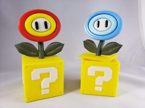 Super Mario Fire/Ice Flower on Question Block