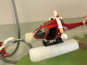 Floats for Playmobil heli + RC ambhibious Playmobil helicopter