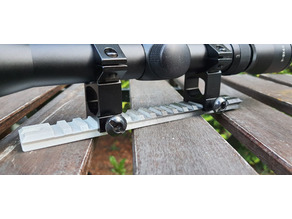 180 mm RIS / picatinny rail with screw holes
