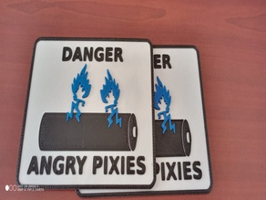 3DPrinted AvE Angry Pixies Sticker