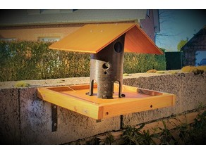 bird feeder Printed and wood ( birdhouse)