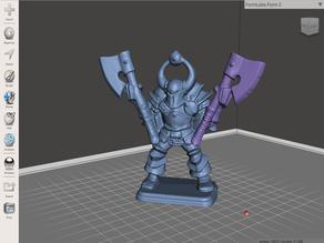 Dual wielding Chaos Warrior